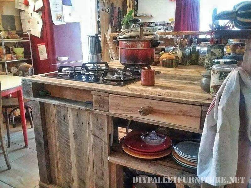 Isola cucina fatta con palletMobili con Pallet  Mobili con Pallet