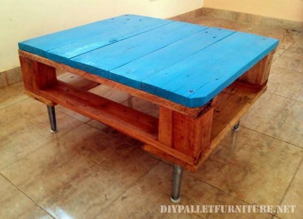 Tavolino con un palletmobili con pallet mobili con pallet for Costruire un biliardo