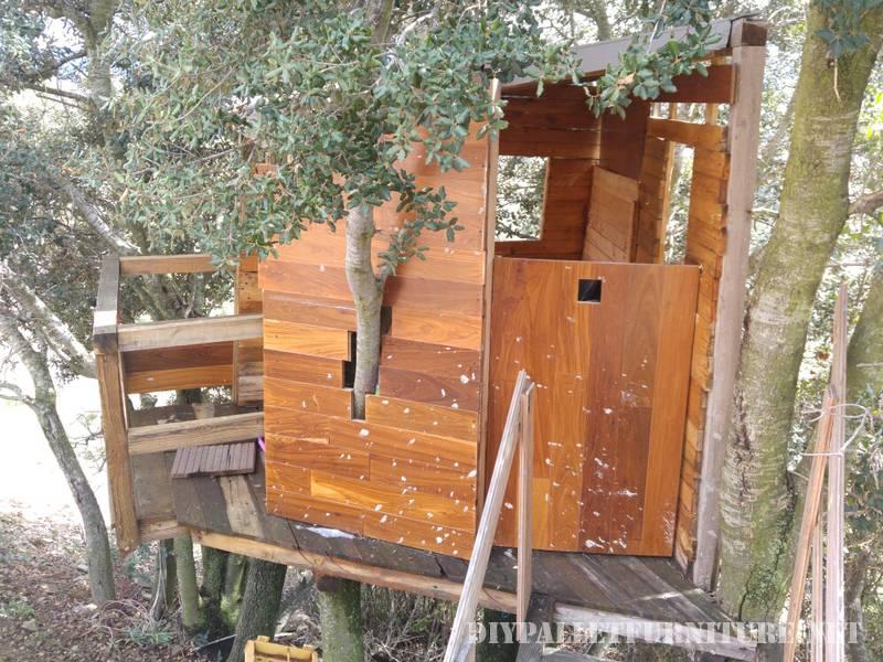Una casa sull albero con i palletmobili con pallet - Costruire una casa sull albero ...