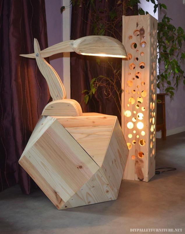 Lampade di design belli realizzati con pallet 2