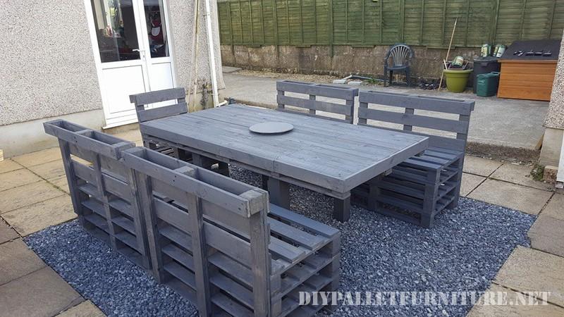 Pallet giardino set da pranzo 3