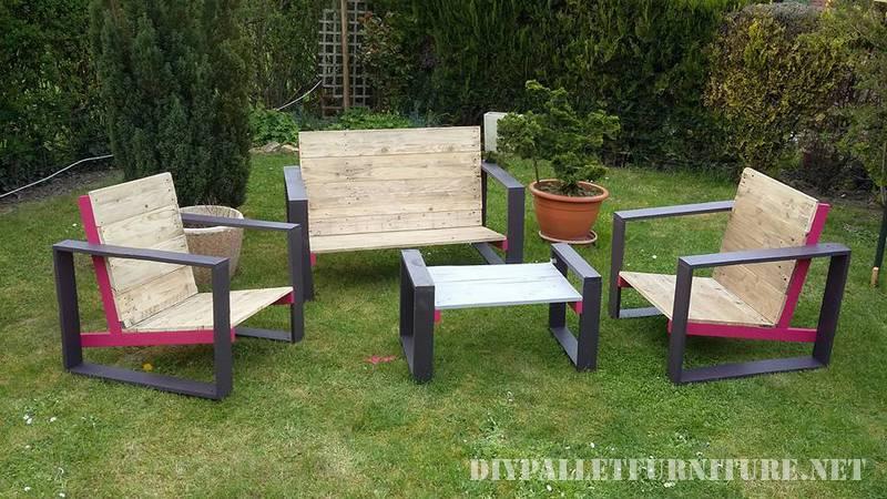 mobili di design per il vostro giardino con pallet 1