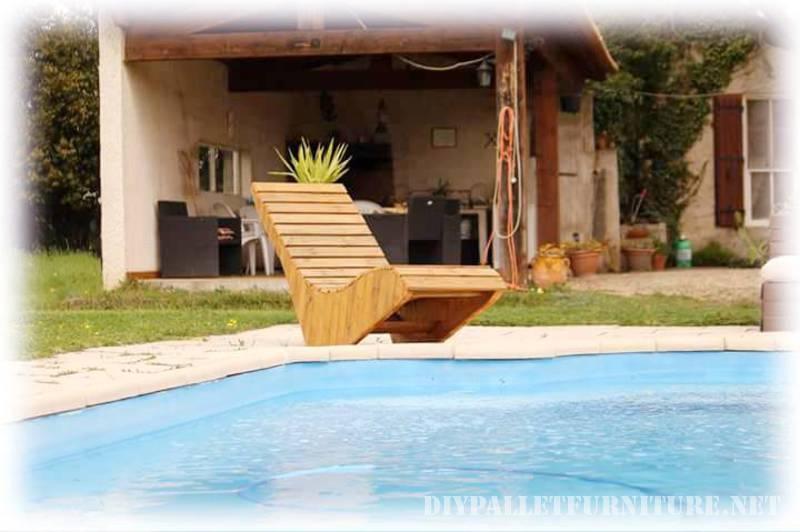 sedia a sdraio realizzata con tavole pallet 2