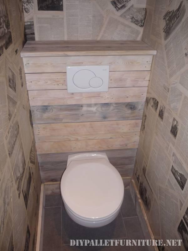 Grande bagno realizzato con pallet 6