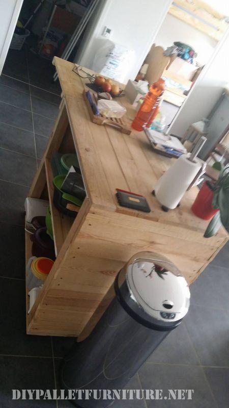 Mobili ausiliari cucina realizzata con i pallet 2