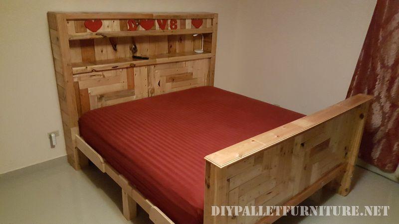Romantico letto realizzato con pallet 1