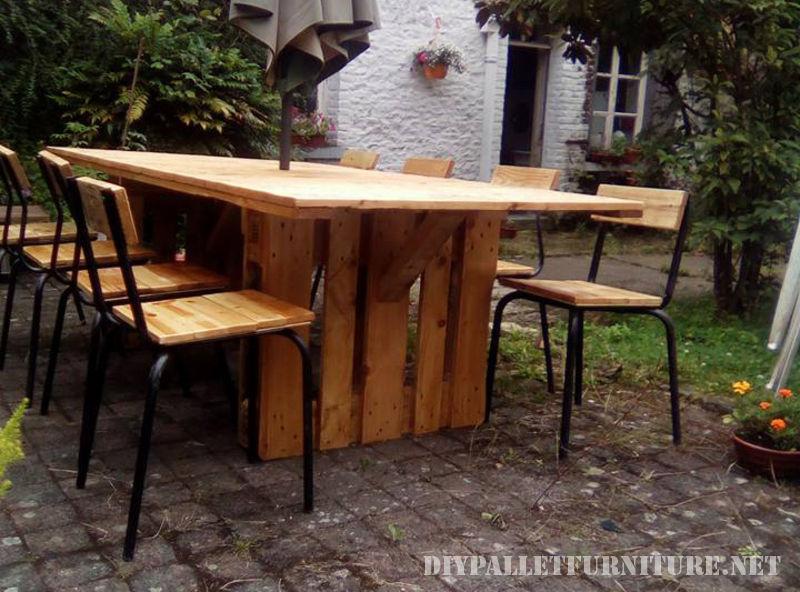 Tavolo e sedie da giardino gazebo con palletmobili con for Arredamento da giardino con bancali