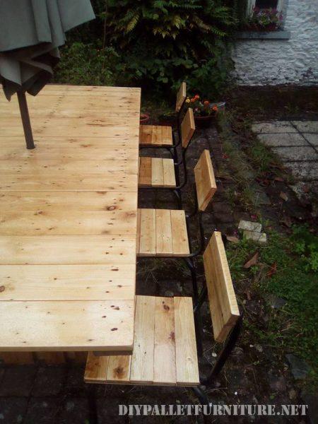 Tavolo e sedie da giardino gazebo con palletMobili con ...