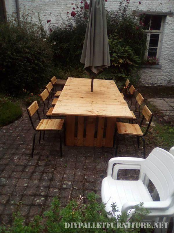 Tavolo e sedie da giardino gazebo con pallet 4mobili con - Giardino pallet ...
