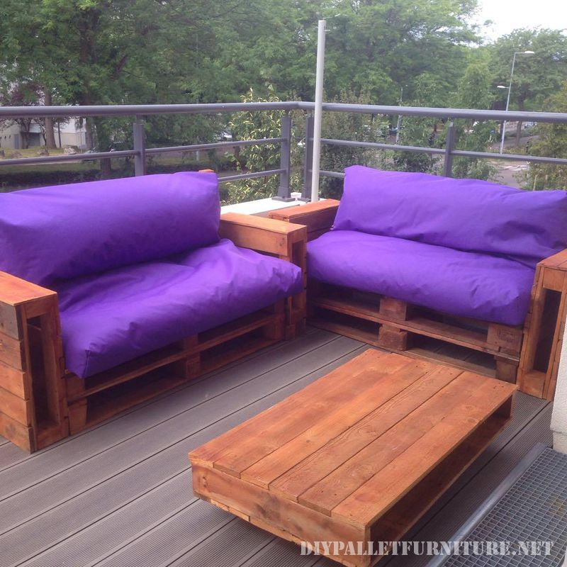divani viola per il vostro giardino 1