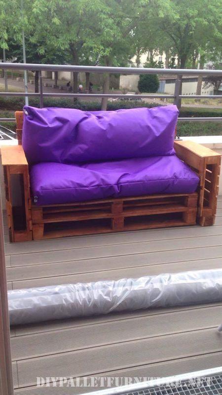 Divani viola per il vostro giardino 2mobili con pallet - Divani per giardino ...