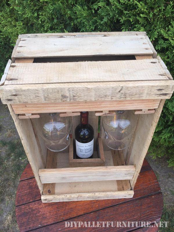 Amante del vino set con una scatola di frutta 4