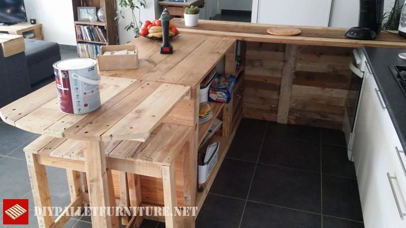 Estensione della cucina con i palletmobili con pallet for Cocinas hechas con palets