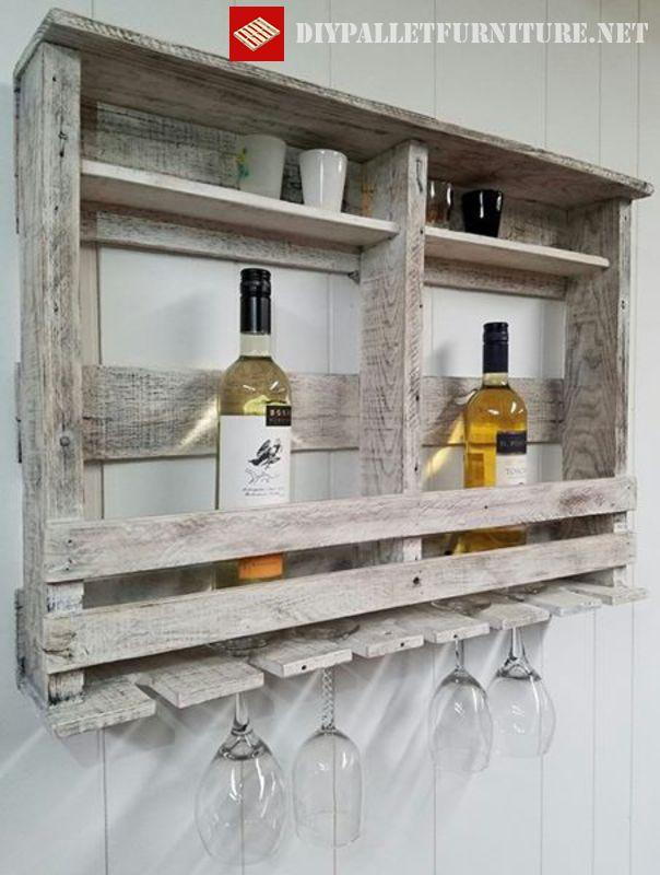 Scaffale per gli amanti del vinomobili con pallet mobili - Weinregal palette ...