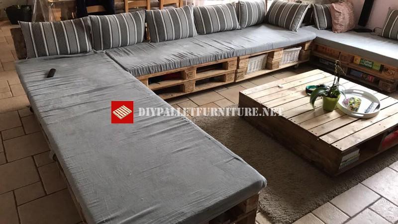 Super divano con palletmobili con pallet mobili con pallet - Como hacer sofas con palets ...