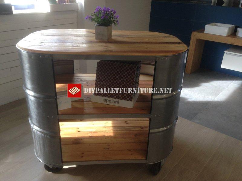 Mobili Con Pallet Usati : Tavolo con legno tamburo e palletmobili con pallet mobili con pallet