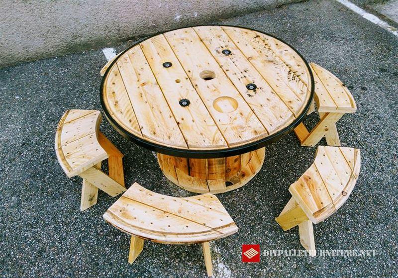 Tavolo per bambinimobili con pallet mobili con pallet