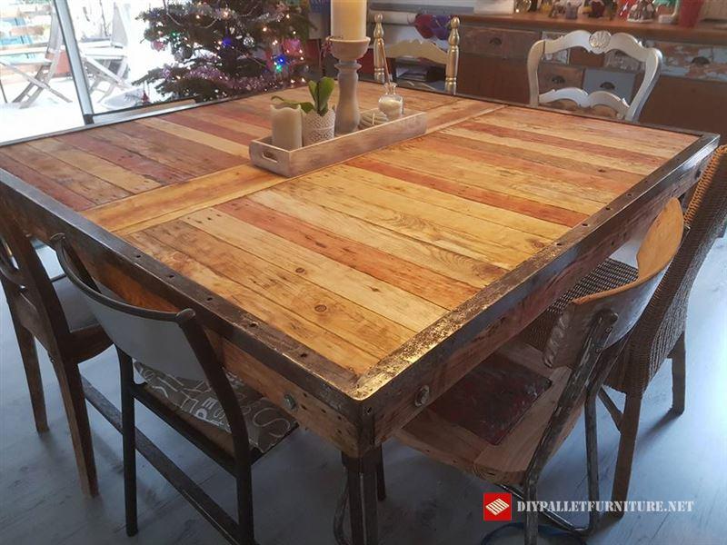 Tavolo rustico per la sala da pranzoMobili con Pallet  Mobili con Pallet