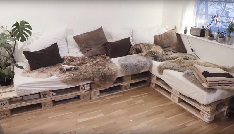 Mobili Con Pallet Tutorial : Video tutorial di un divano realizzato con palletmobili con pallet