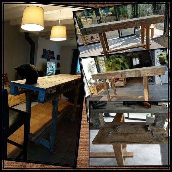 Tavolo per la sala da pranzomobili con pallet mobili con - Mobili per la sala ...
